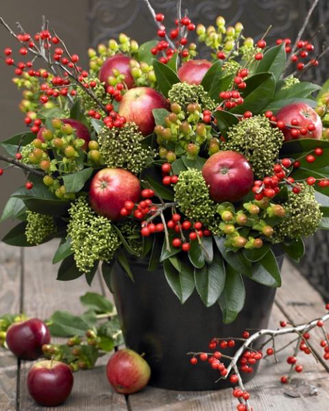 Nochebuena plantas artificiales decorklass - Frutas artificiales para decoracion ...
