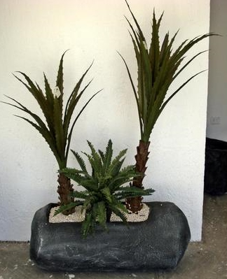 agaves y cactus artificiales