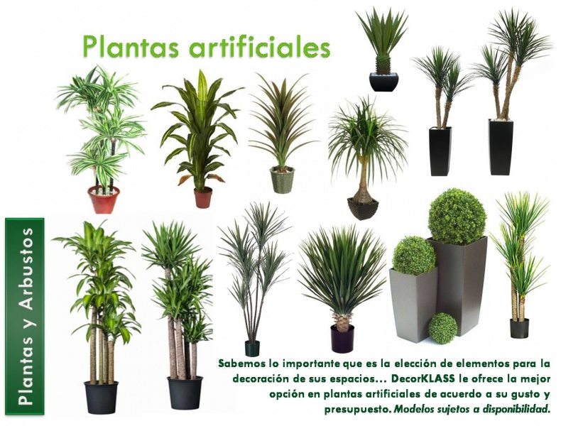 Plantas artificiales decorklass jardiner a y decoraci n for Plantas artificiales decoracion