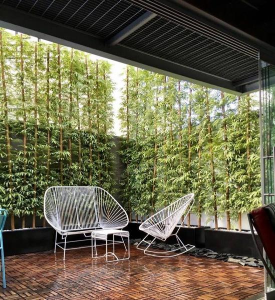 Bambus artificiales decorklass jardiner a y decoraci n - Jardineras con bambu ...