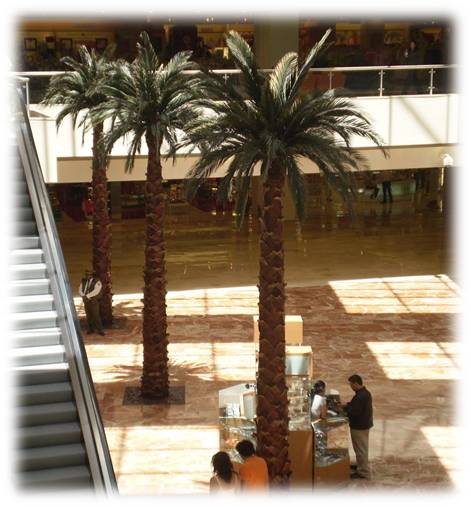 Palma Washingtonia artificial