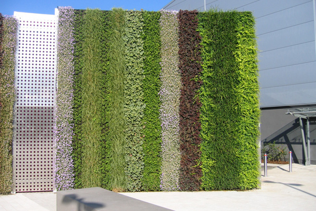 pared verde artificial