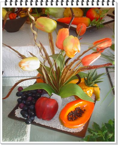 Arreglos con frutas decorklass jardiner a y decoraci n - Adornos de frutas para mesas ...